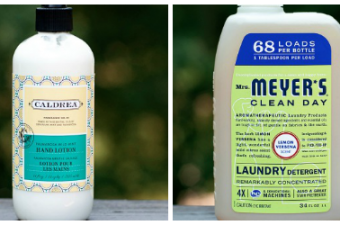 Caldrea Hand Lotion and Mrs. Meyer's Laundry Detergent Review
