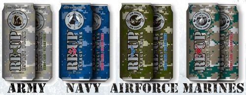Reup military energy drinks