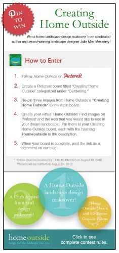 creating home outdoors pinterest contest