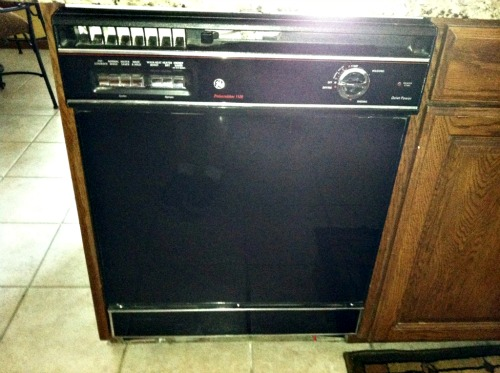 old black dishwasher