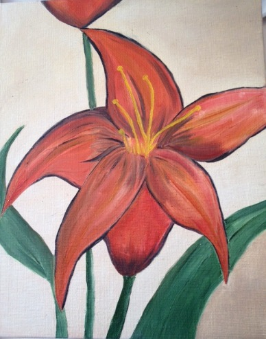red lily painting