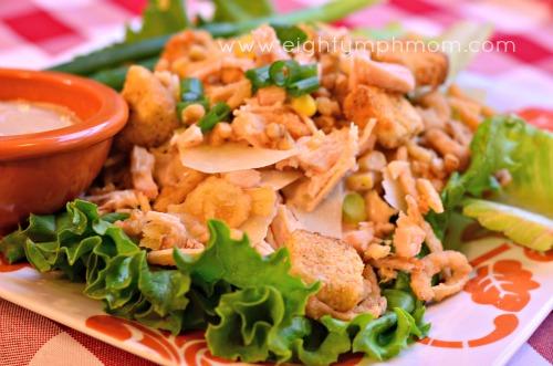 chicken and corn salad, salad, chicken, swansons