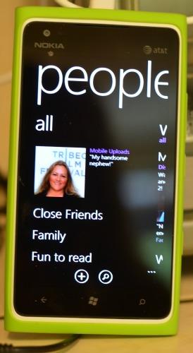 Nokia Lumia 900 People feature