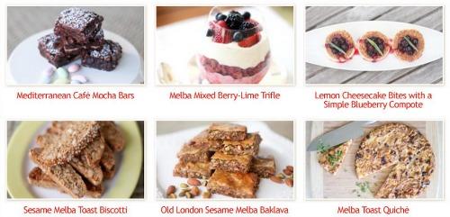 old london melba recipes, biscotti, mocha bars, quiche, baklava