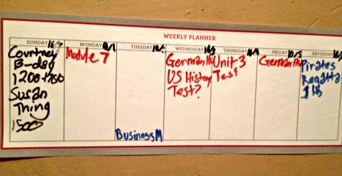 dry erase weekly planner
