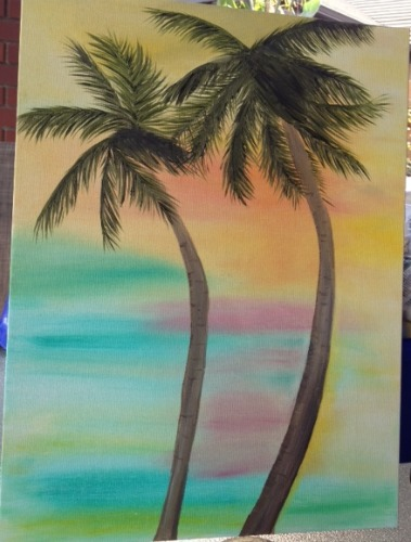 palm tree painting,palms,