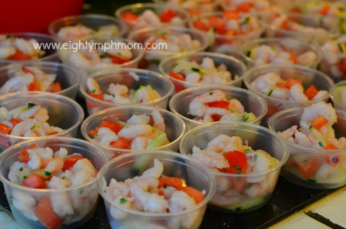 shrimp ceviche,teen,party,finger food,