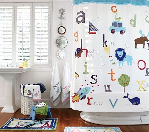 Not Only Does The Pottery Barn Kids ABC Shower Curtain Match My Ridiculous  Bathroom But It Is Fun And Educational For Children. I Love That It Has  Made My, ...