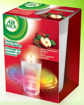 air wick color changing candle,apple cinnamon candle