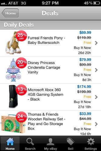 eBay app for iPhone
