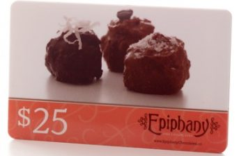 $25 Epiphany Chocolates Gift Card and 18-piece box