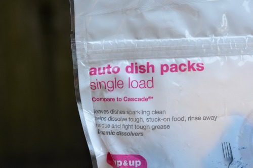 Target up&up single load auto dishwasher gel packs