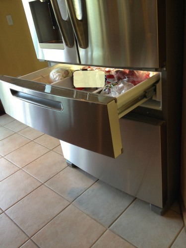 maytag refrigerator with middle drawer, appliances,