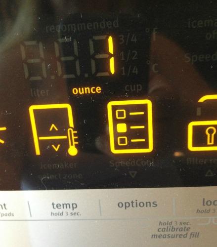 maytag refrigerator with digital display