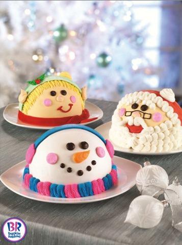 baskin robbins holiday cakes, snowman ice cream cake