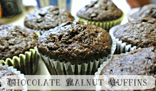 chocolate walnut muffins, fisher nuts, holiday recipes, nut recipes, cooking with nuts