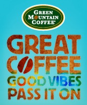 great coffee good vibes pass it on