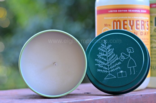 mrs meyers pine scented soy candle