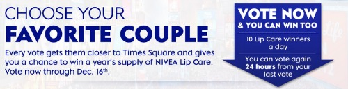 Nivea kiss of the year contest