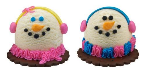 baskin robbins snowman cakes