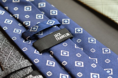 blue necktie with diamonds, jack franklin ties