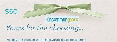 uncommon goods gift certificate