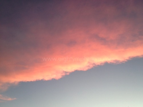 pink clouds,orange cloud