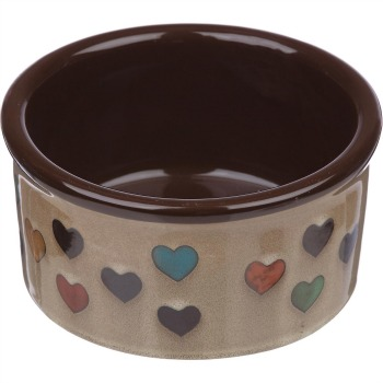 pet bowl with hearts