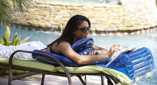inflatable book holder for beach, sphinx lounger