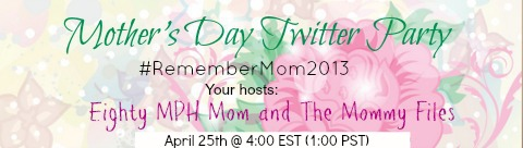 Mother's Day,Twitter Party,remember mom 2013