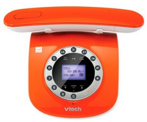 vtech,retro phone,orange