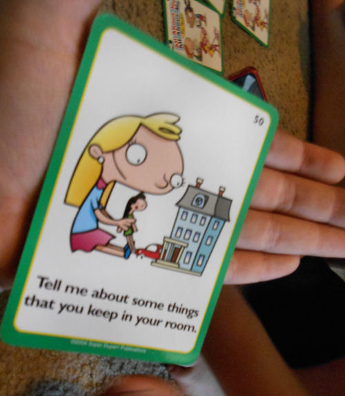 One of the cards in All About You, All About Me Fun Deck®