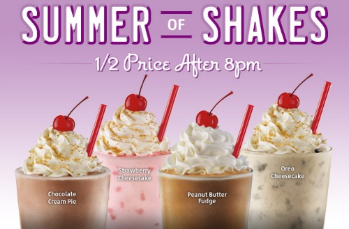 sonic,shakes,half price