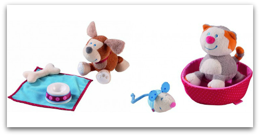 HABA Pet Play Sets Hound Leo and Cat Lucy