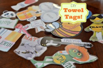 DIY Personalized Towel Tags