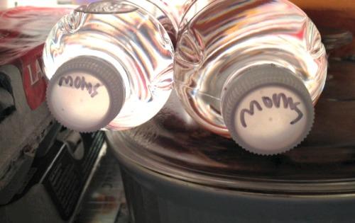water bottles,labels