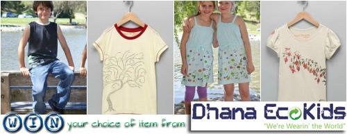 Eco-Friendly Kids Apparel: Dhana EcoKids Giveaway