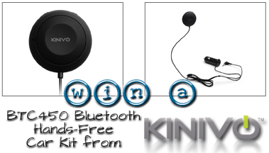 Kinivo BTC450 Bluetooth Hands-Free Car Kit Review and Giveaway {ARV $59.99}