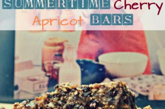 Summertime Cherry Apricot Bars, inspired by Shiloh Farms