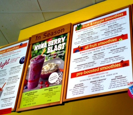 jamba juice,menu,smoothie