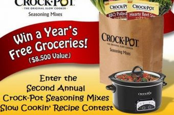 Get Cookin' with Crock-Pot Seasoning Mixes & Win Free Groceries for a Year!