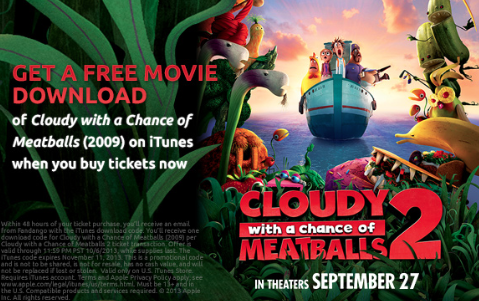 Meatball cloudy chance a 2 of download movie with