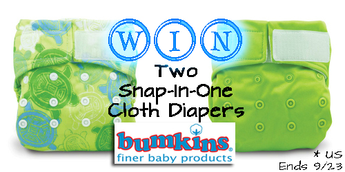 Bumkins Splat Mat and Snap-In-One Cloth Diaper Review {with a cloth diaper giveaway! ARV $39.90}