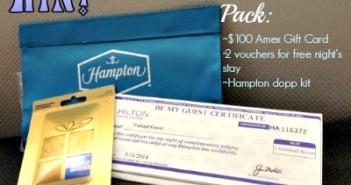 Hampton Hotels,prize pack
