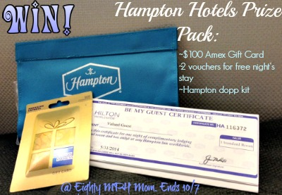 Hampton Hotels,prize pack