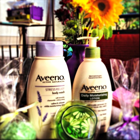 Aveeno,lotion,skincare,spa party