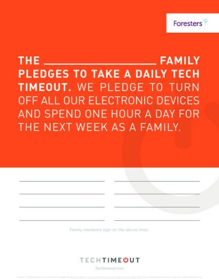 tech timeout,electronics,family,break