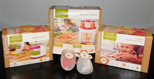 infantino,fresh squeezed,baby food,pouches,homemade
