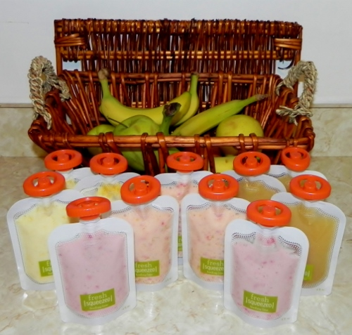 infantino,baby food,pouches,homemade