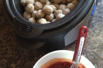 Ultimate Meatball Recipe featuring Heinz, Johnsonville and Ocean Spray